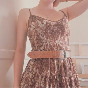Brown feather dress
